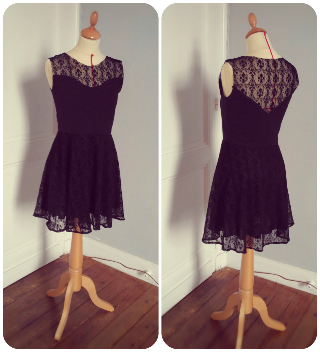 diy fabriquer une robe en dentelle. Black Bedroom Furniture Sets. Home Design Ideas