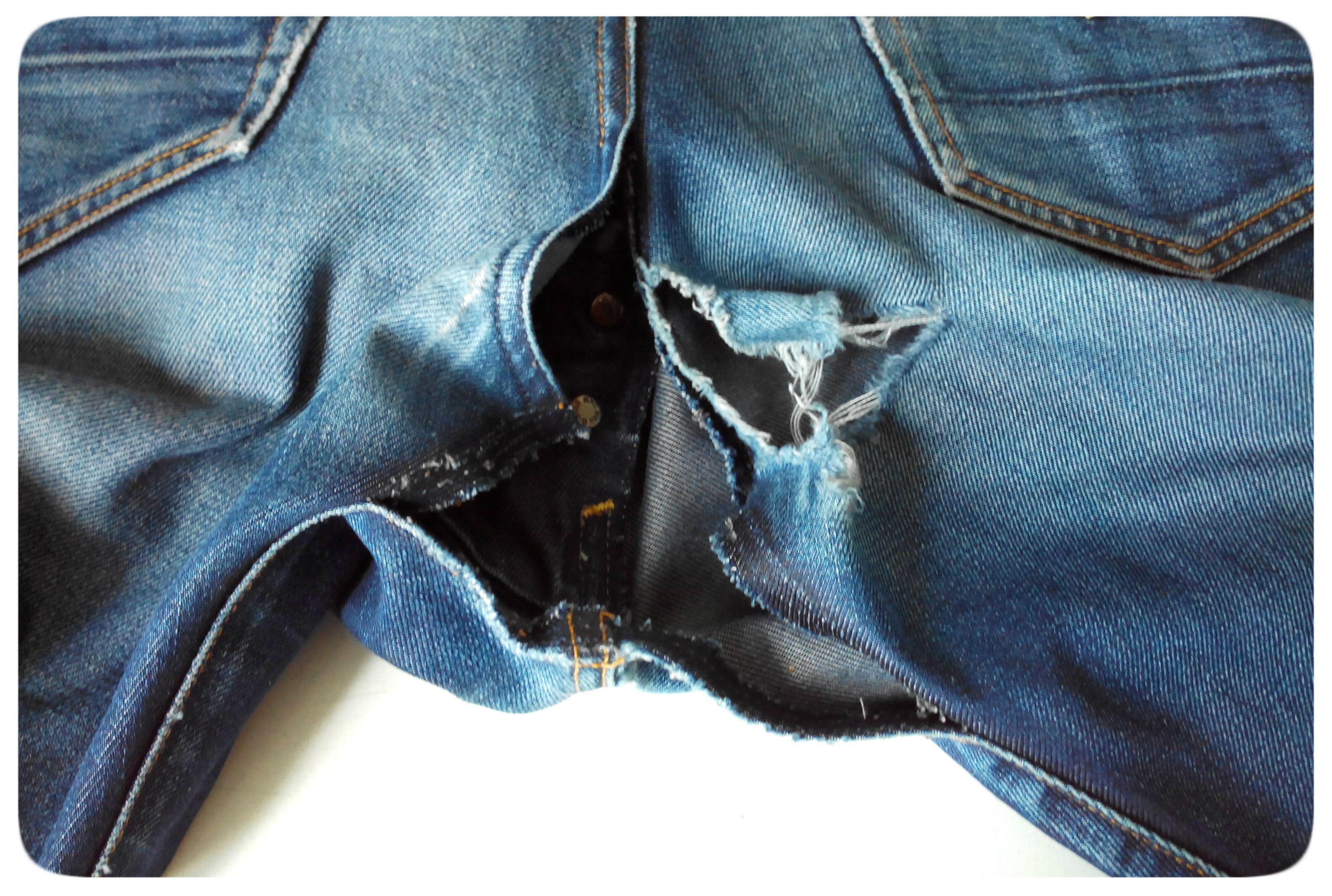 rapiécer un jean aux fesses